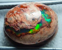 4.41ct Mexican Matrix Cantera Multicoloured Fire Opal