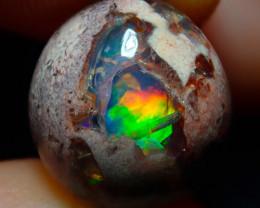 $1 NR Auction 4.86ct Mexican Matrix Cantera Multicoloured Fire Opal