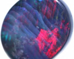 3.96 CTS RED FIRE BLACK OPAL STONE-FROM LIGHTNING RIDGE - 4[LRO2027]