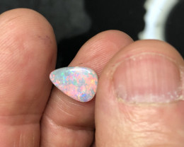 Coober pedy bright red opal stone