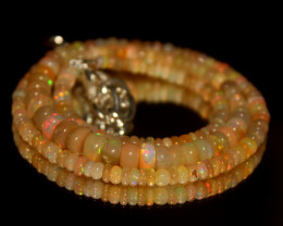 54 Crts Natural Ethiopian Welo Opal Beads Necklace 3129