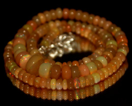 70 Crts Natural Ethiopian Welo Opal Beads Necklace 3126