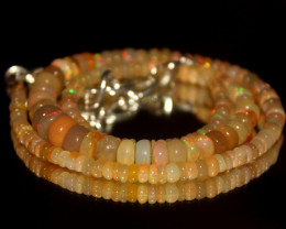 58 Crts Natural Ethiopian Welo Opal Beads Necklace 3130
