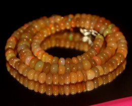 81 Crts Natural Ethiopian Welo Opal Beads Necklace 3127