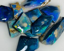 Bright Black Seam Opals - Rough/ Rub, Colour Checked