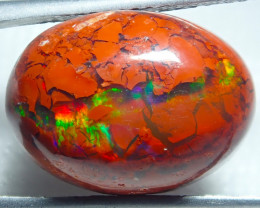 $1 NR Auction 7.81ct Mexican Matrix Cantera Multicoloured Fire Opal