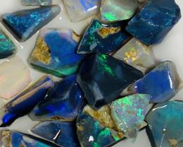 Bright Blacks- Rough/Rub Black Bright Seam Opals#635