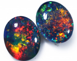 Gem Opal Triplet Pair 10x8mm  Code CCC1972