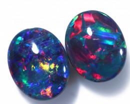 Gem Opal Triplet Pair 10x8mm  Code CCC1975