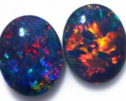 Gem Opal Triplet Pair 10x8mm  Code CCC1976