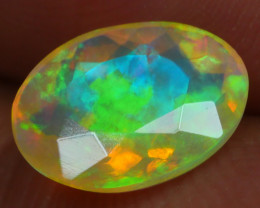 0.720 CRT BRILLIANT FACETED BEAUTIFUL PERFECT FULL PLAY COLOR  WELO-