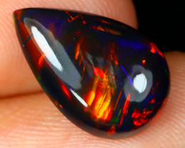 Opal 2.54Ct Natural Bright Color Play Welo Black Smoked Opal E1411