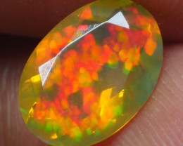 0.990 CRT BRILLIANT FACETED BEAUTIFUL PERFECT FULL PLAY COLOR  WELO-