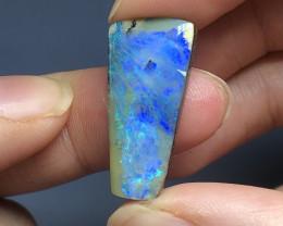 Dreamy blue Boulder opal gemstone
