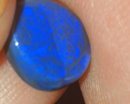 Deep blue black opal from Lightning Ridge Australia