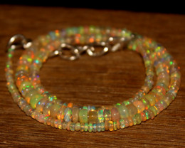 34 Crts Natural Ethiopian Welo Opal Beads Necklace 602