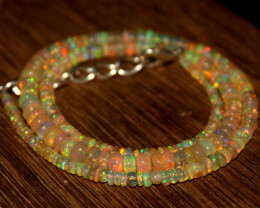 35 Crts Natural Ethiopian Welo Opal Beads Necklace 607