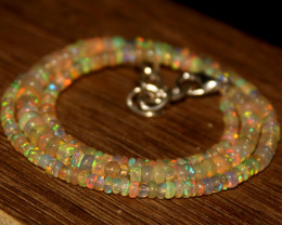 30 Crts Natural Ethiopian Welo Opal Beads Necklace 609