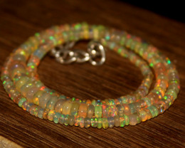 33 Crts Natural Ethiopian Welo Opal Beads Necklace 610