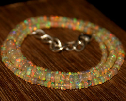 30 Crts Natural Ethiopian Welo Opal Beads Necklace 611