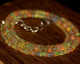 36 Crts Natural Ethiopian Welo Opal Beads Necklace 613