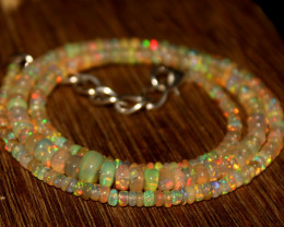 32 Crts Natural Ethiopian Welo Opal Beads Necklace 616