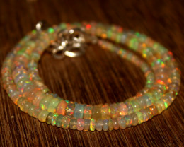 35 Crts Natural Ethiopian Welo Opal Beads Necklace 617