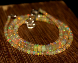 32 Crts Natural Ethiopian Welo Opal Beads Necklace 618