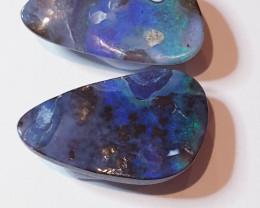 Boulder Opal Pair from Quilpie Queensland