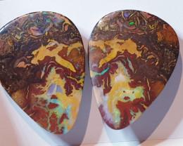Boulder Opal Pair from Koroit Queensland