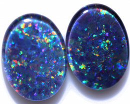 Gem Opal Triplet Pair  18x13 mm  Code CCC 2505