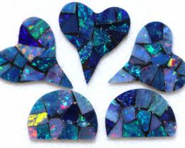 5.6 Cts parcel 5 pcs Opal Mosaic Doublet  CCC 2079