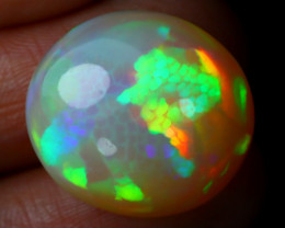16.18Ct Bright Neon Rainbow Flash Color Play Welo Opal E1603