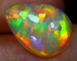 3.24Ct Bright Neon Rainbow Flash Color Play Welo Opal E1608