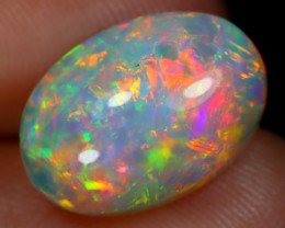 3.68Ct Bright Neon Rainbow Flash Color Play Welo Opal E1610