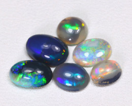 2.23 Cts Australian  Lightning Ridge Black & Semi black  Opals  CCC 2094