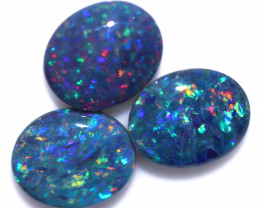 Gem Opal Triplet Set of 3  12x10mm   Code CCC 2532