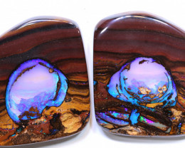 koroit field featured on outback opal hunters pair 59.45 cts INV-2184