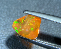Jelly Fire opal 1.54 Cts Multi color polished thumble BGC1883