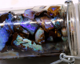 300cts  55pcs Boulder opal Rough Parcel Jar-31