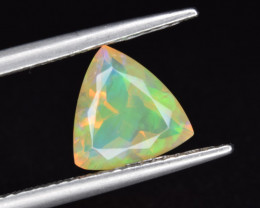 Natural Welo Opal  1.31 Cts Faceted Gem, Excellent Fire and Play of Colors