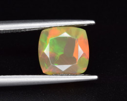 Natural Welo Opal  1.71 Cts Faceted Gem, Excellent Fire and Play of Colors