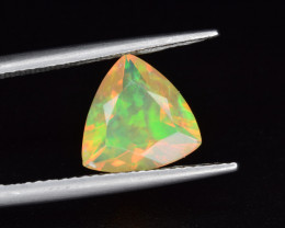 Natural Welo Opal  1.82 Cts Faceted Gem, Excellent Fire and Play of Colors