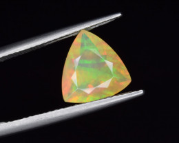 Natural Welo Opal  1.94 Cts Faceted Gem, Excellent Fire and Play of Colors