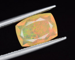 Natural Welo Opal  2.14 Cts Faceted Gem, Excellent Fire and Play of Colors