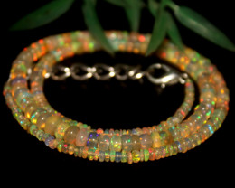 35 Crts Natural Ethiopian Welo Opal Beads Necklace 621