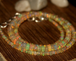 34 Crts Natural Ethiopian Welo Opal Beads Necklace 627