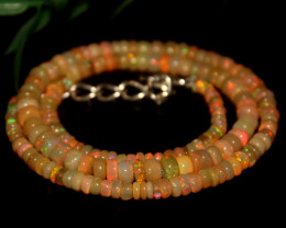 53 Crts Natural Ethiopian Welo Opal Beads Necklace 637
