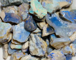 415 Cts Big Size Rough Opals Showing Bright Colours and Good Potential