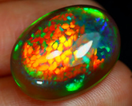 6.69Ct Dragon Skin Honeycomb Cell Pattern Neon Flash Welo Opal D1703